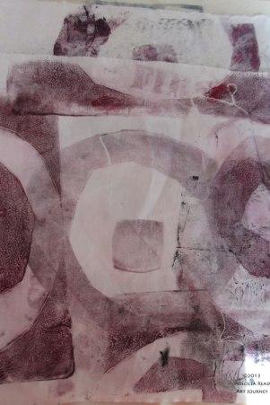 Circle Series Mono print
