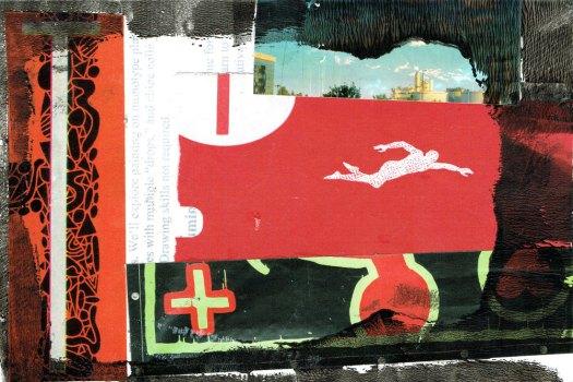 Postcard-swimmer